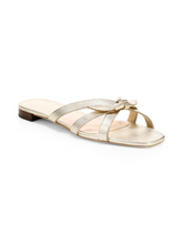 Load image into Gallery viewer, Eveline Flat Sandal - Champagne