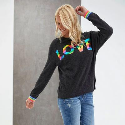 Love Foil Sweater - Charcoal