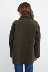 Albany Reversible Shearling Jacket - Olive