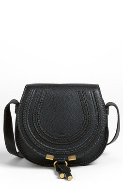 Small Marcie Saddle Bag - Black