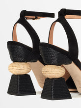 Load image into Gallery viewer, Bibi Ankle Strap Sandal - Black Suede
