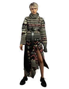 High Low Inside Out Fair Isle Sweater - Multi