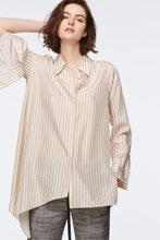 Load image into Gallery viewer, Striped Sensation Blouse - Beige/White