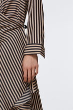 Load image into Gallery viewer, Striped Sensation Dress - Beige/Black