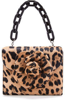 Mini Floral Handbag - Cheetah