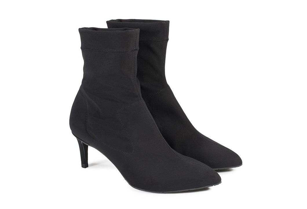 Erlinda Stretch Sock Boot - Black