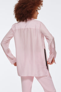 Striped Sensation Blouse - Pink/White