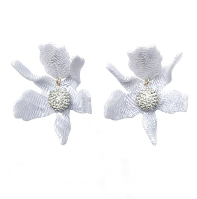 Lily Earring - White Sand