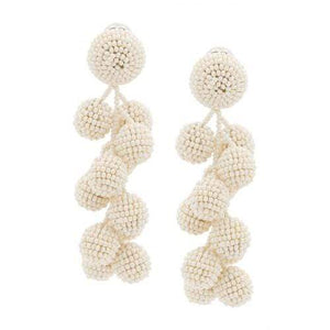 Coconut Earring - White