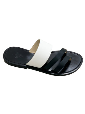 Slip-on Sandal - Black/White