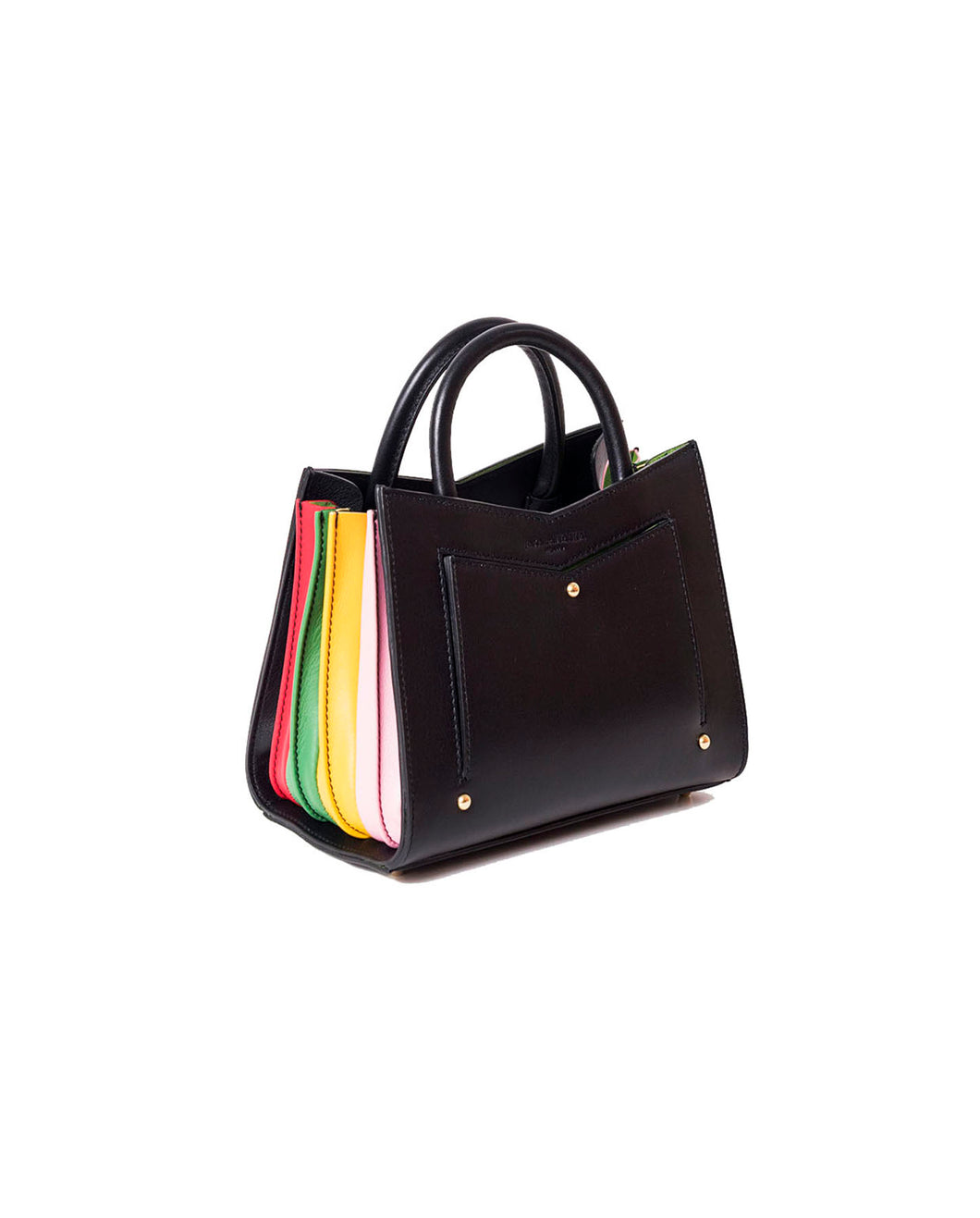 Toy Tote - Black Rainbow