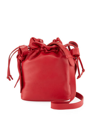 Bow Pouch Bag - Red