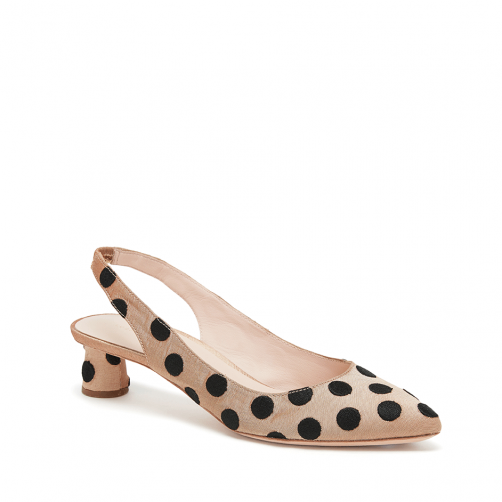 Laura Slingback - Tan/Black