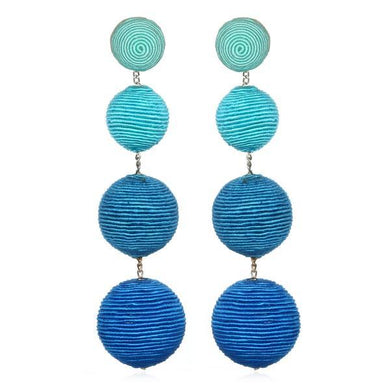 Gumball Earring - Blue Ombre
