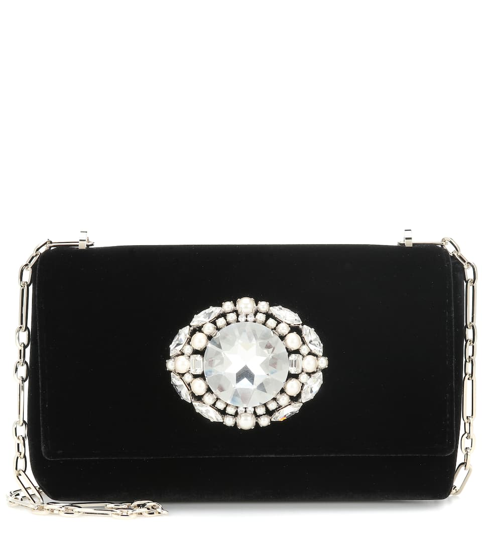 Thea Clutch - Black Velvet
