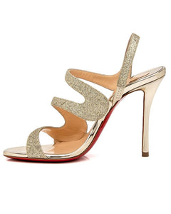 Vavazou 100mm Sandal - Platinum/Gold
