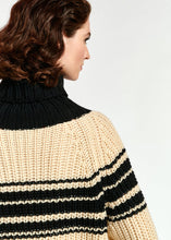 Load image into Gallery viewer, Stripe Sweater - Cream/Black