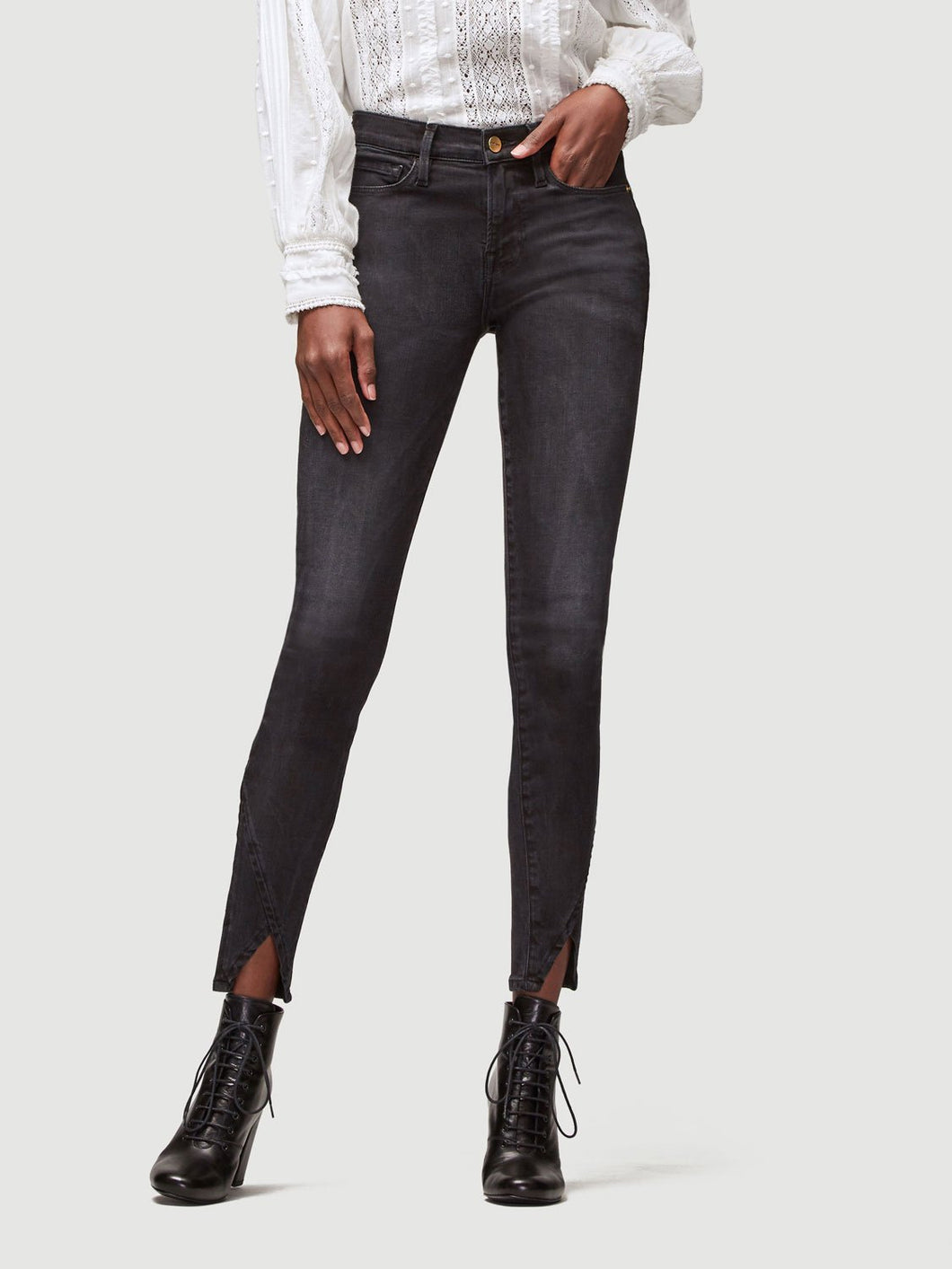 Asymmetrical Skinny Tri Jeans - Wheatley