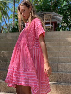 Wubet Smocked Dress - Pink
