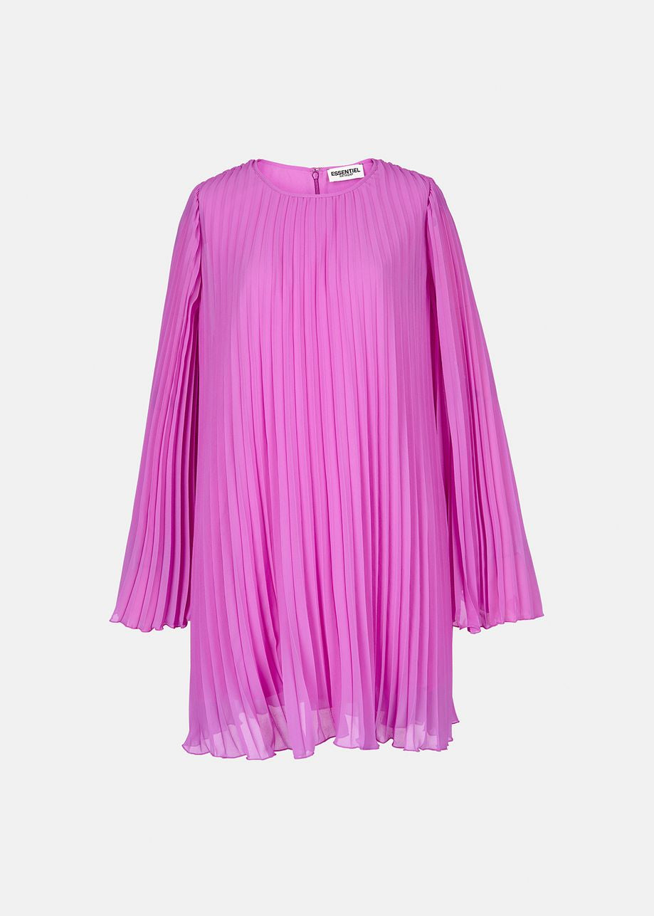 Zisse Pleated Mini Dress - Purple