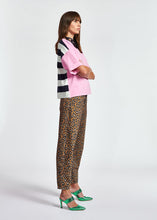Load image into Gallery viewer, Zrad Pullover Top - Pink/Navy Stripe