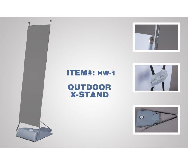 OUTDOOR X-STAND-WATER BASE (HARDWARE ONLY) - 702Prints.com