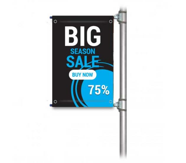 "STREET POLE BANNER SET 18"" x 90"" - 702Prints.com"