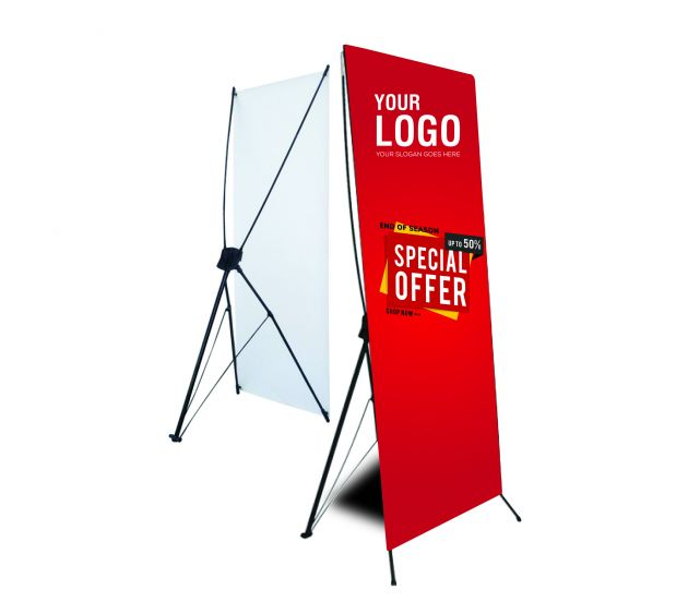 "24""X63"" X-STAND(POP UP BANNER) - 702Prints.com"