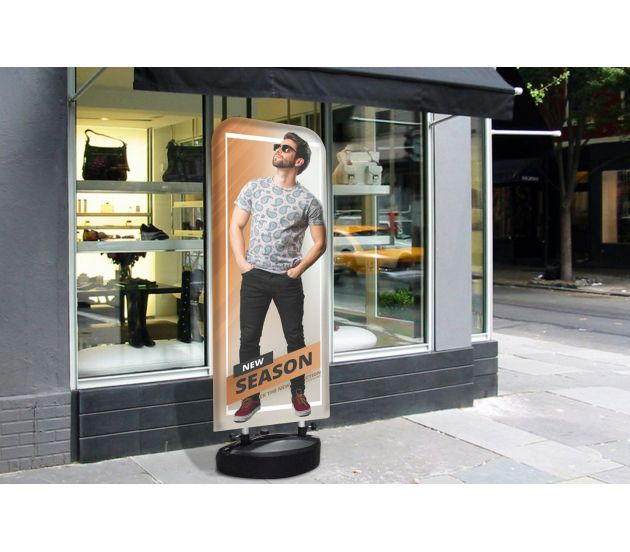 OUTDOOR TENSION BANNER STAND SINGLE SIDED (WATER BASE) - 702Prints.com