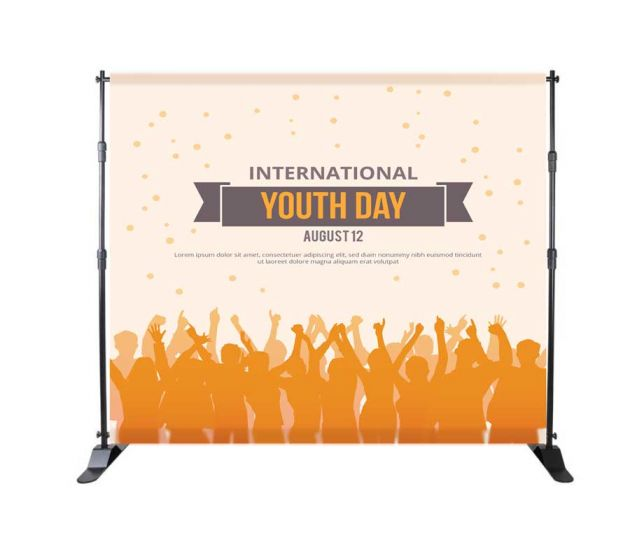 STEP AND REPEAT BACKDROP STAND 8X9 (2Pcs Water Weight Bag) - 702Prints.com