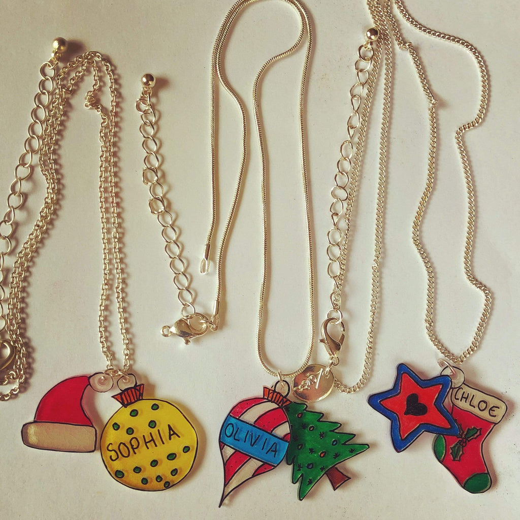 Christmas Crafts for Kids - Shrinky Dinks Charms