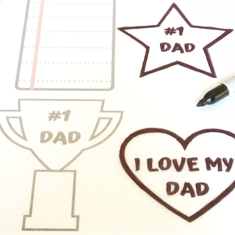 Fathers Day Shrinky Dink Designs