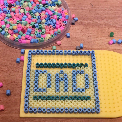 Making fathers day perler bead craft