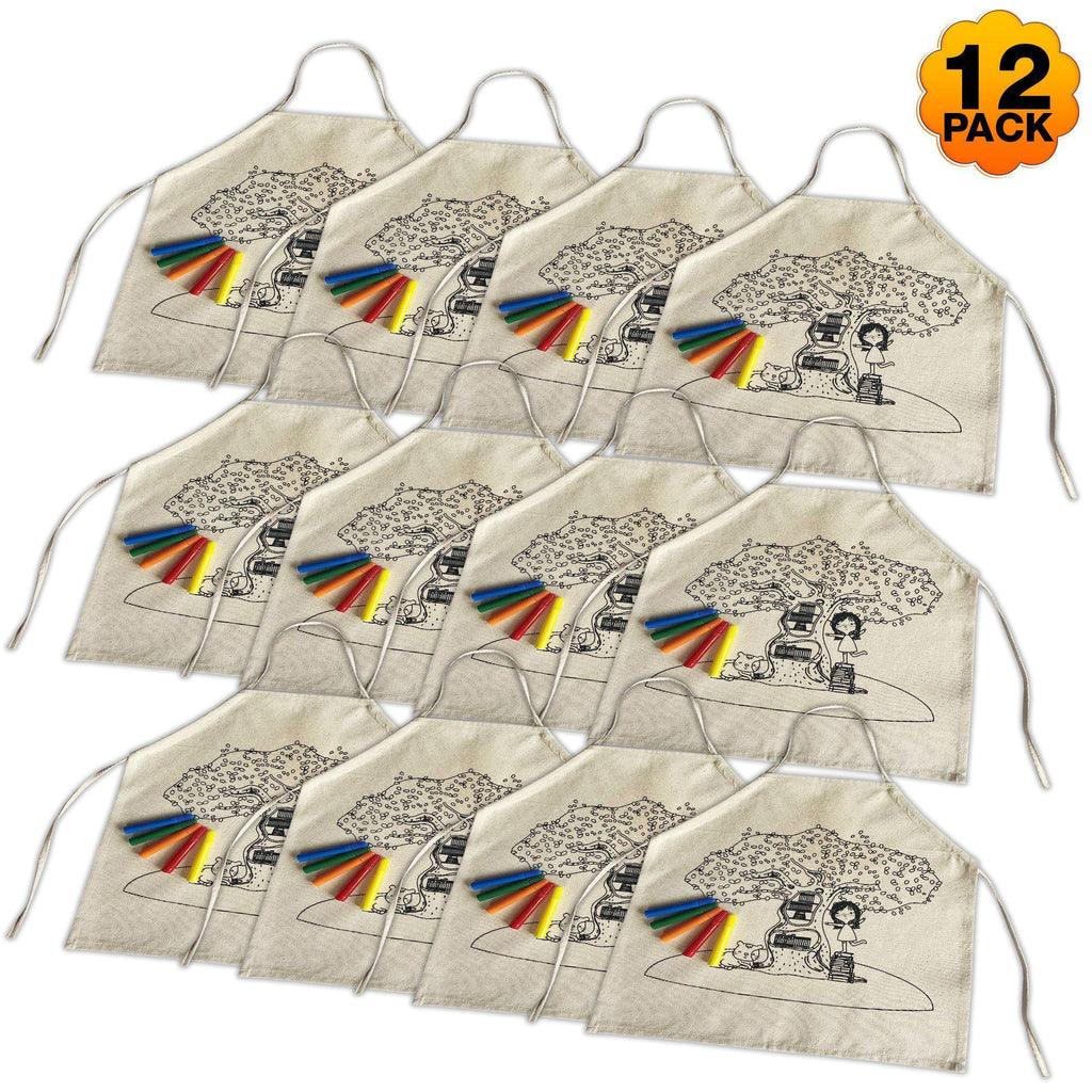 12 Pack Boys Colour-In Aprons