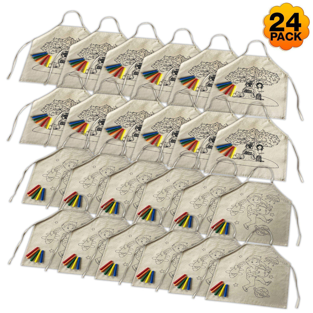 24 Pack Colour-In Aprons - SilverStarCrafts