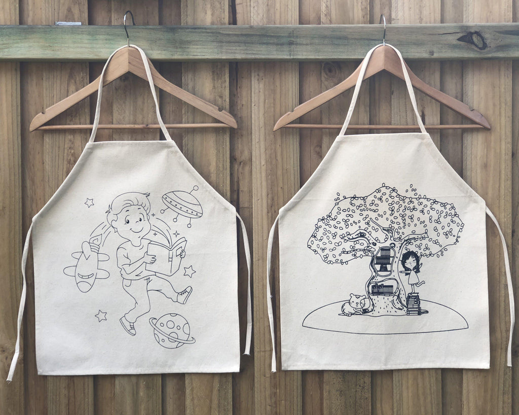 Colour-In Aprons - SilverStarCrafts
