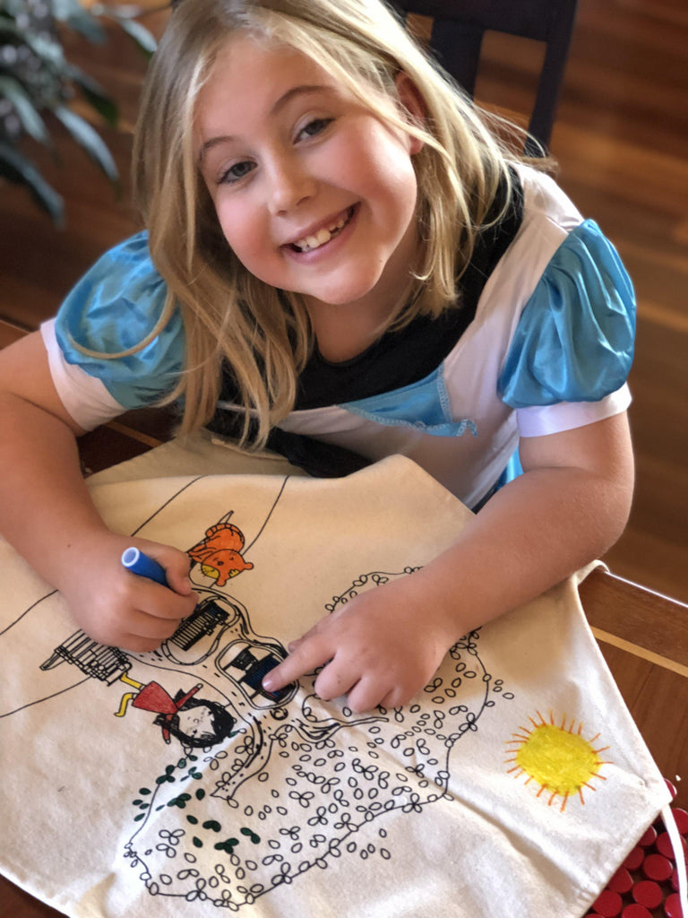 Kid Colouring In Apron