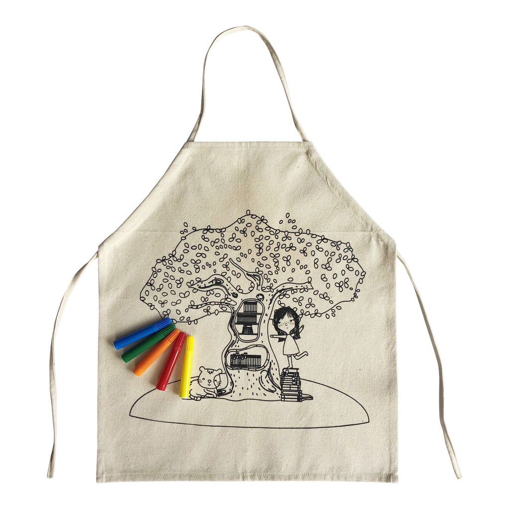 Girl Colour In Apron