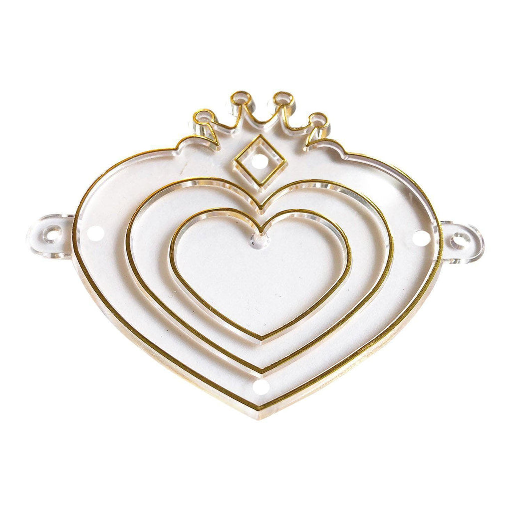 Gold Heart Charm Suncatcher