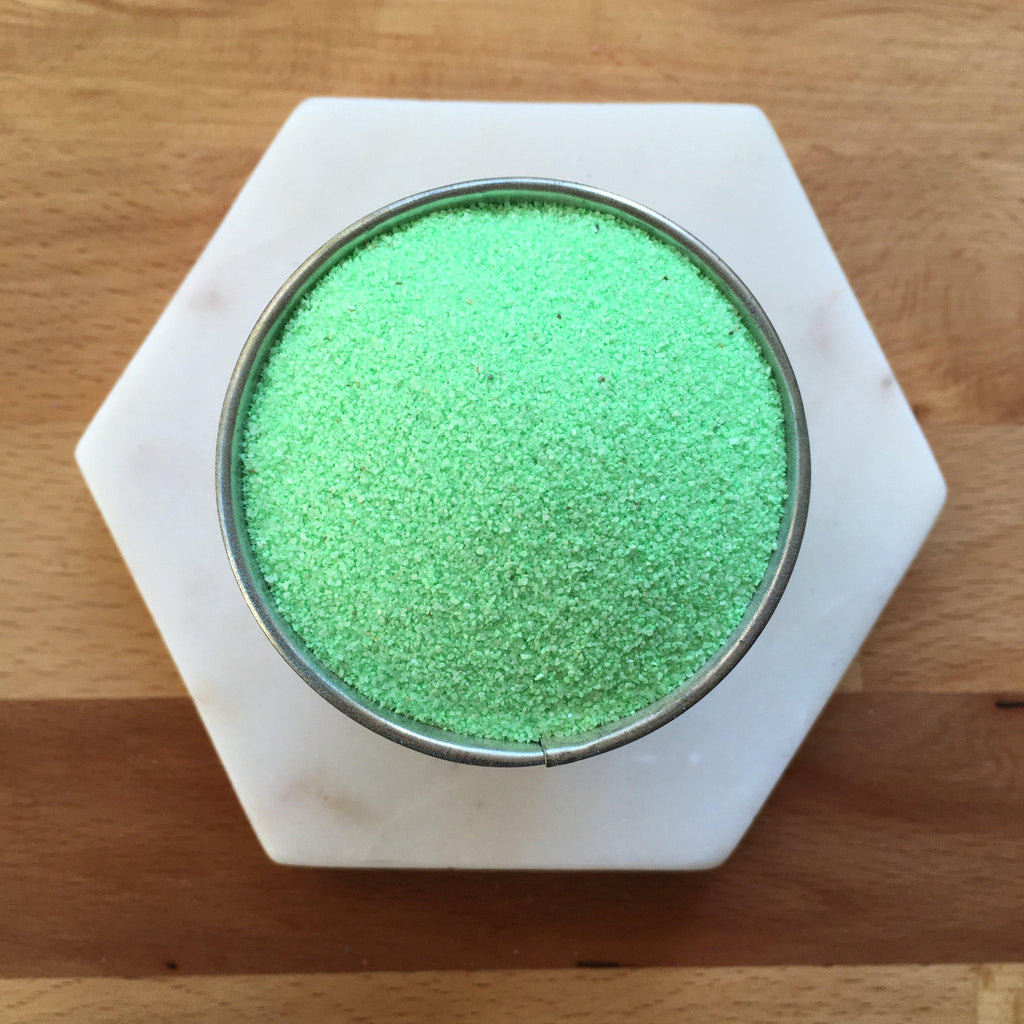 Fluro Green Coloured Sand - SilverStarCrafts