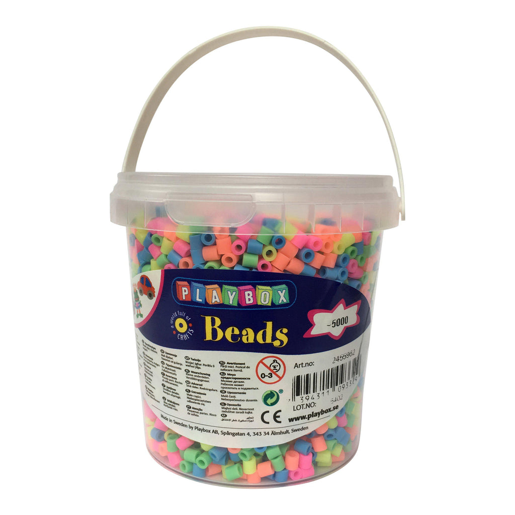 Playbox Fusible Beads - Fluro Solid Mix - SilverStarCrafts