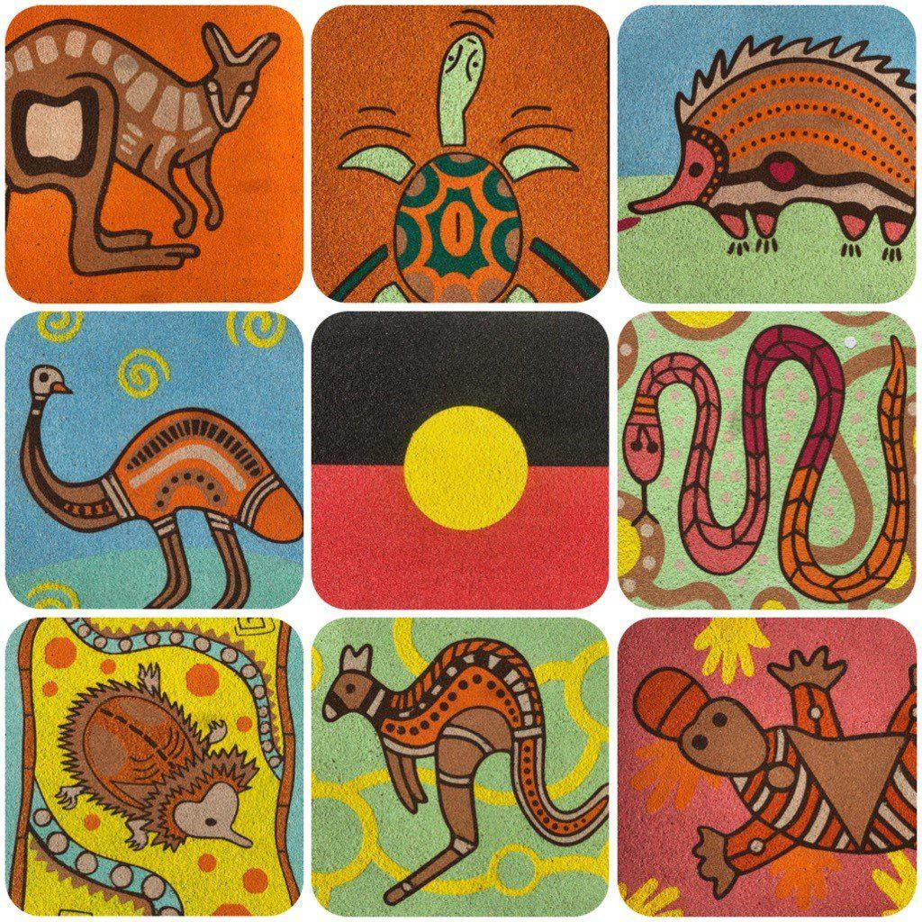 Kids Aboriginal Sand Art