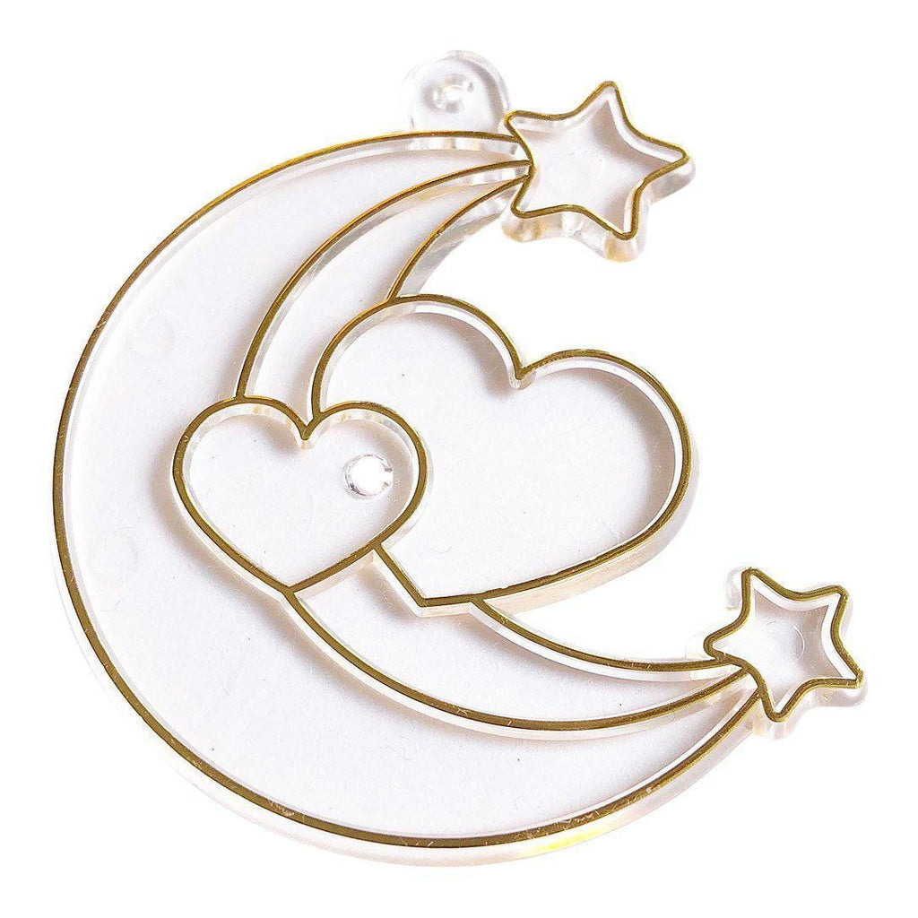 Gold Moon Charm Suncatcher
