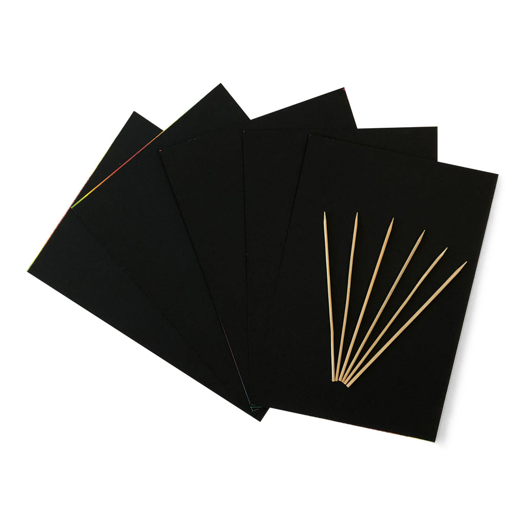 Scratch Art Sheets with bamboo scratchers