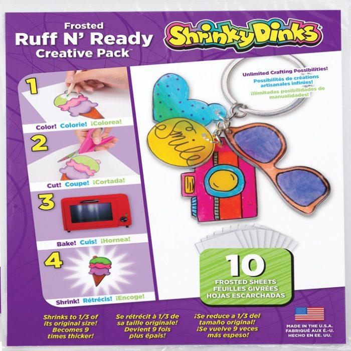Frosted Shrinky Dinks