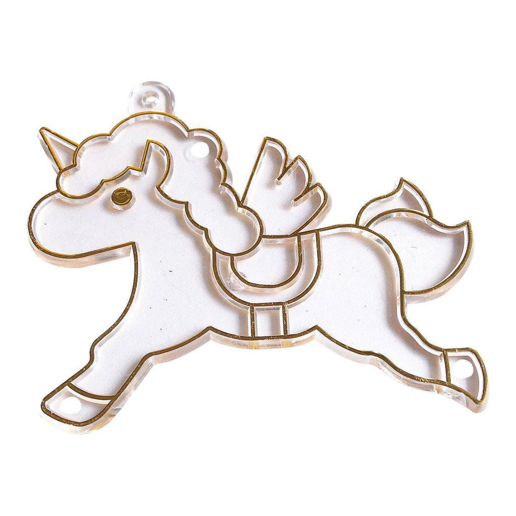 Gold Unicorn Charm Suncatcher