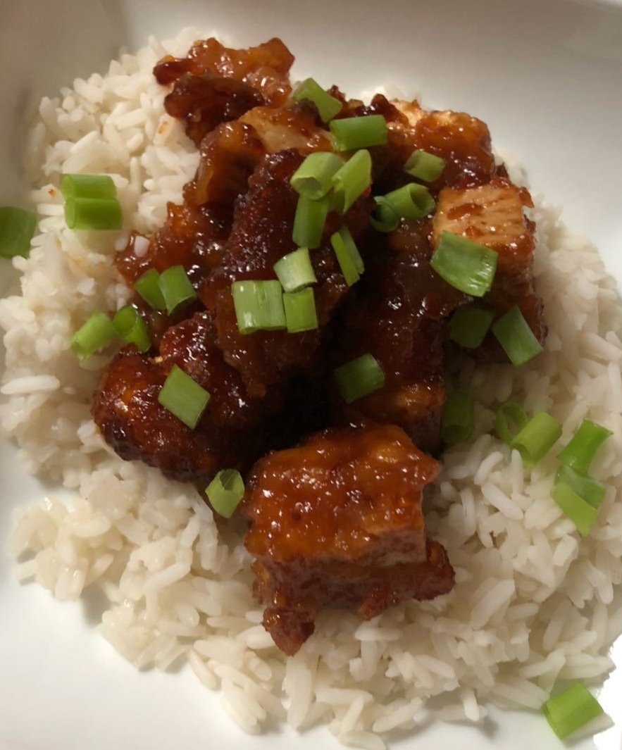 Lea's sweet and spicy Tofu