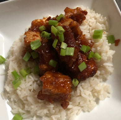 Lea's sweet but spicy Tofu large. 450g Meal for two/three people with your added sides.