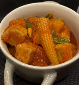 Sweet & Sour Tofu large. 450g Meal for two/three people.