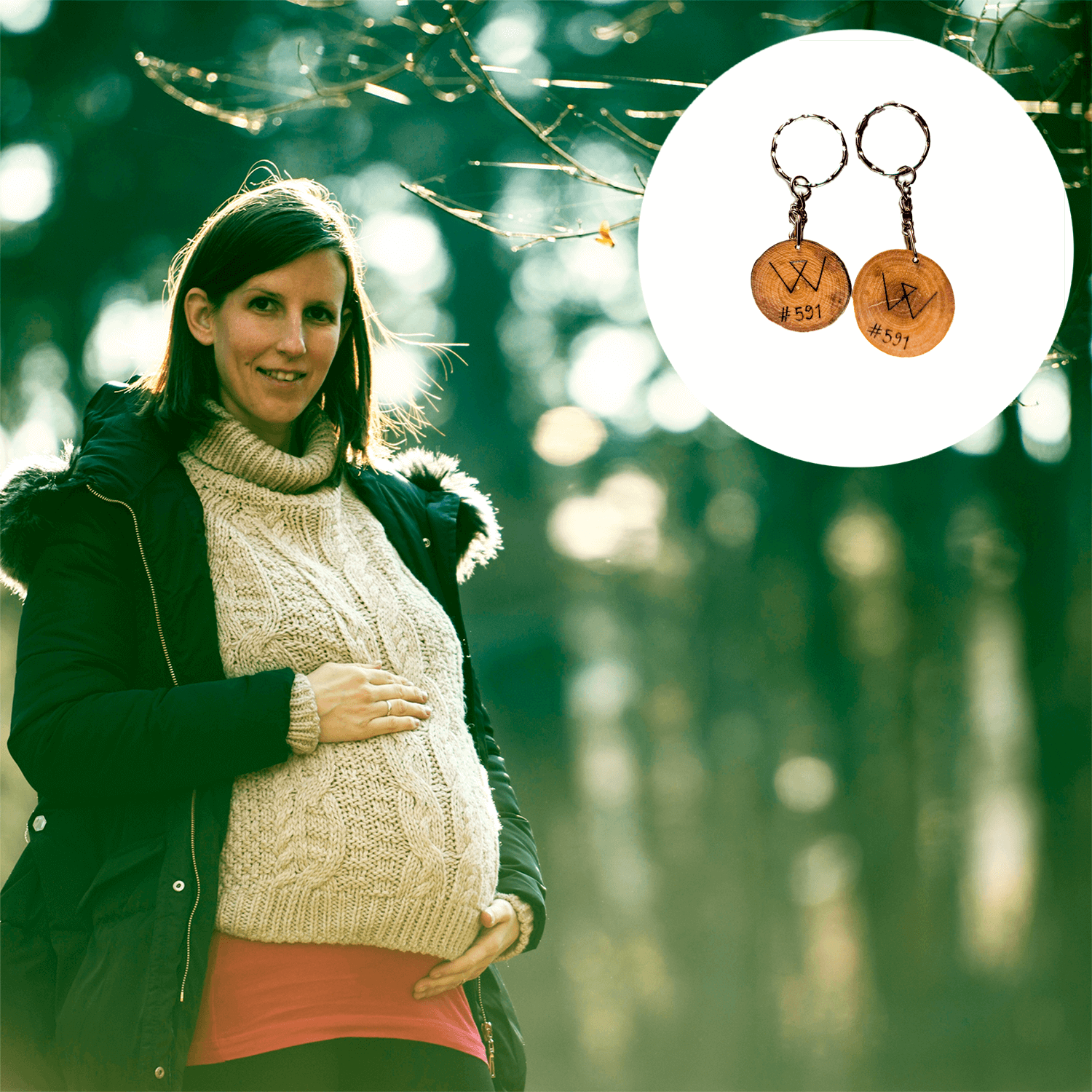 Protect 10 Square Feet of Forest + Get 2 Recycled Wooden Keychains